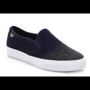 Tory Burch blue stardust slip-on sneaker